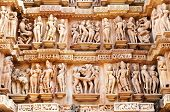 picture of kamasutra  - Erotic Human Sculptures at Vishvanatha Temple Western temples of Khajuraho Madhya Pradesh India - JPG