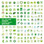 Big Set Of Vector Icons Ecology, Health, Natural