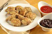 Fried chicken in sesame