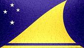 Tokelau flag on metallic metal texture