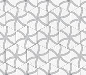 Geometrical Ornament With Hexagons And Lines