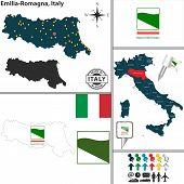 Map Of Emilia-romagna, Italy