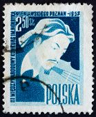 Postage Stamp Poland 1957 Henryk Wieniawski, Polish Violinist