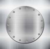 Metallic Background Witth Circle Plate