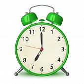 Green Alarm Clock Isolated