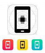 Phone CPU icon. Vector illustration.