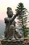 pic of lantau island  - six bronze statues known as  - JPG