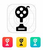 Best film icon on white background.