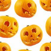 Seamless Jack-o'-lanterns pumpkin pattern