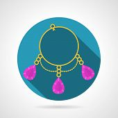 Bracelet colored vector icon