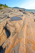 Dramatic Flat Rock On A Summer Day