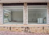 picture of derelict  - Run down shop empty and closed for business - JPG
