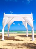image of altar  - Wedding altar on caribbean beach in Dominican Republic - JPG