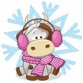 Cow In A Fur Headphones