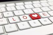 Keyboard With Written Love