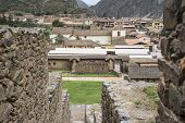 Ollantaytambo - Old Inca Fortress And Town In Peru