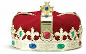 Royal Crown On White Background