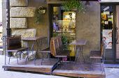 Volterra, Tuscany, winery shop. Color image