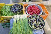 Various Fresh Vegetables In Asia Market