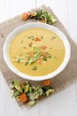 Creamy Vegetable Soup In A Bowl