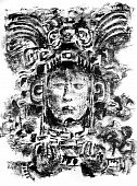 Mayan God Drawing
