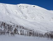 Sunny days in the Scandinavian mountains.
