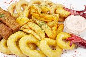 foto of collate  - Assorted hot snacks - JPG