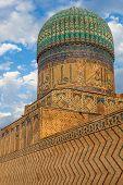 Bibi-Khanym Mosque near Registan square in Samarkand Uzbekistan
