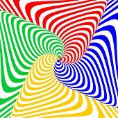 Design Colorful Swirl Circular Movement Illusion Background