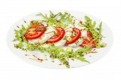 picture of vinegar  - Caprese salad with mozzarella - JPG