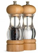 Stylish Salt And Pepper Condiments Dispenser On A White Background