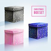 Christmas Box Set, Black, Pink, Blue