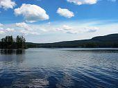 Beautiful northern lake