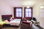 Spacious Hotel Room With Two Single Beds