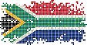 South Africa grunge tile flag. Vector illustration