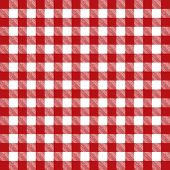Red Checkered Pattern Tablecloth Illustration
