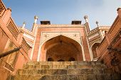 picture of mughal  - The entrance of the tomb of the mughal emperor Humayun in Delhi India - JPG