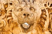 Lion head sculpture at rancient Roman Empire ruins in Baalbeck Lebanon