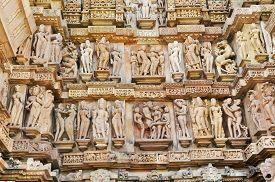 pic of kandariya mahadeva temple  - Erotic Human Sculptures at Vishvanatha Temple Western temples of Khajuraho Madhya Pradesh India - JPG