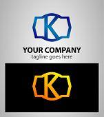 pic of letter k  - Letter K logo icon design template elements - JPG