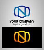 pic of letter n  - Letter n logo icon design template elements - JPG