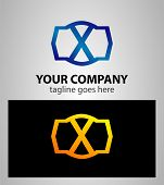 foto of letter x  - Letter x logo icon design template elements - JPG