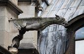 foto of gargoyles  - Gargoyle in Saint Germain l - JPG
