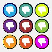 foto of dislike  - Dislike Thumb down Hand finger down icon sign - JPG