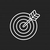 stock photo of archery  - Archery Line Icon - JPG