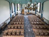 foto of church interior  - Historic Dutch church seen from the organ platform - JPG