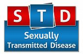 picture of std  - STD concept image with text written over red blue background - JPG