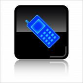 Cellphone glossy web icon