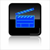 Movies glossy web icon