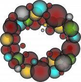 Transparent Colorful Bubbles - Vector Illustration